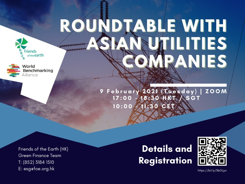 Roundtable on ESG Performance with Asian Utilities Companies